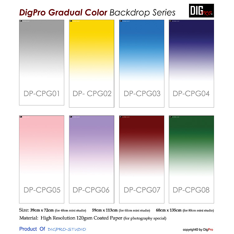 Gradient Colors Background Paper (80cm)