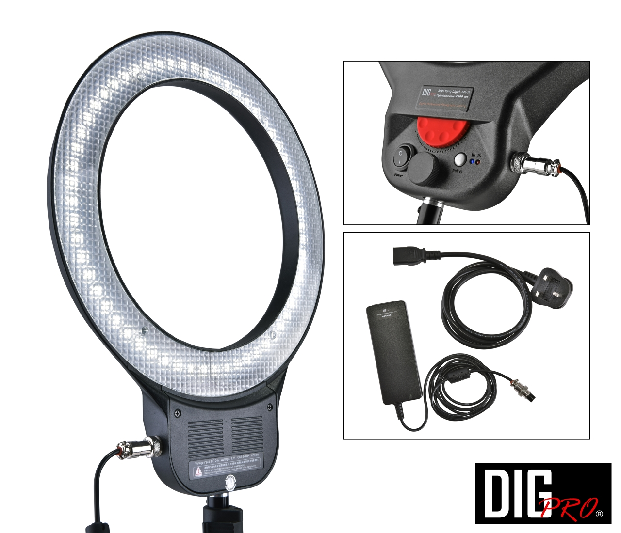 30W LED Ring Light W/ AC adapter