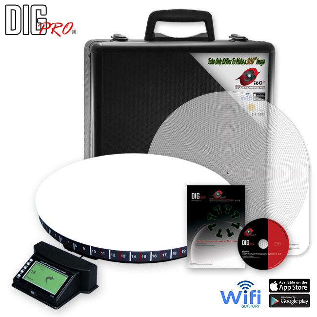 DigPro Second Generation Heavy Duty 360 Turntable + Software (ET470)