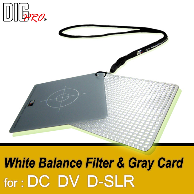 White Balance Filter & Grey Card Kit